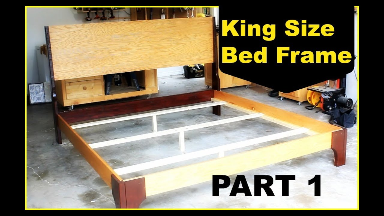diy king size bed frame part 1 - Diy King Size Bed Frame