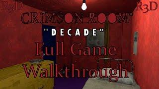 Crimson Room Decade - Complete Game Walkthrough [PC, Full 1080p HD]