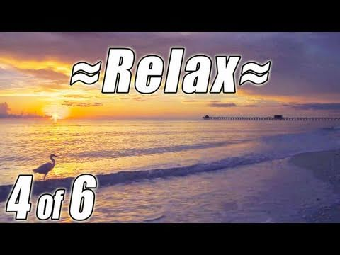 RELAXING NATURE SCENES #4 Waves Sounds of Nature Most Soothing Ocean Sunset Beach relax HD 1080p