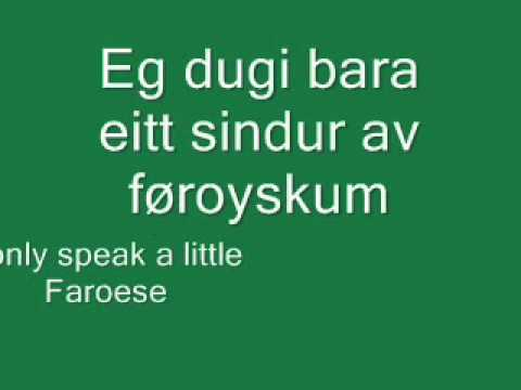 Faroese language lesson 1