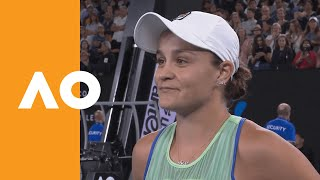 Ash Barty on-court interview (4R) | Australian Open 2020