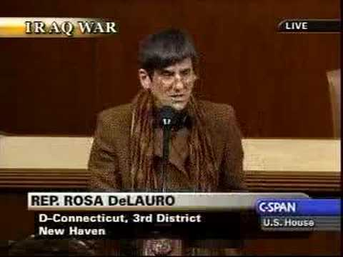 Rosa DeLauro on Iraq resolution