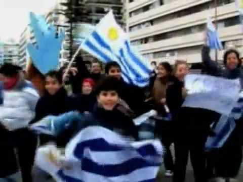 Selección de Uruguay welcome in Montevideo