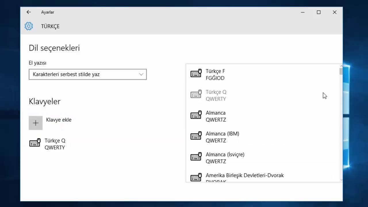 Windows 10 Klavye Değişikliği Nasıl Yapılır? - YouTube