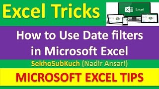 How to Use Date filters in Microsoft Excel : Excel Tips and Tricks [Urdu / Hindi]