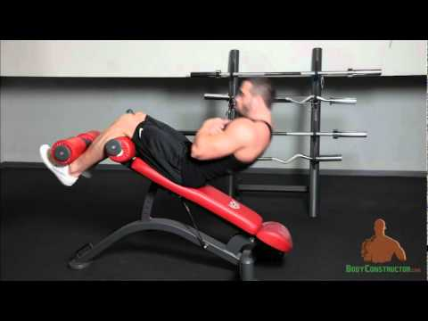 Incline Bench Sit ups