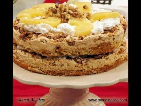 كيك بالأناناس - مطبخ منال العالم