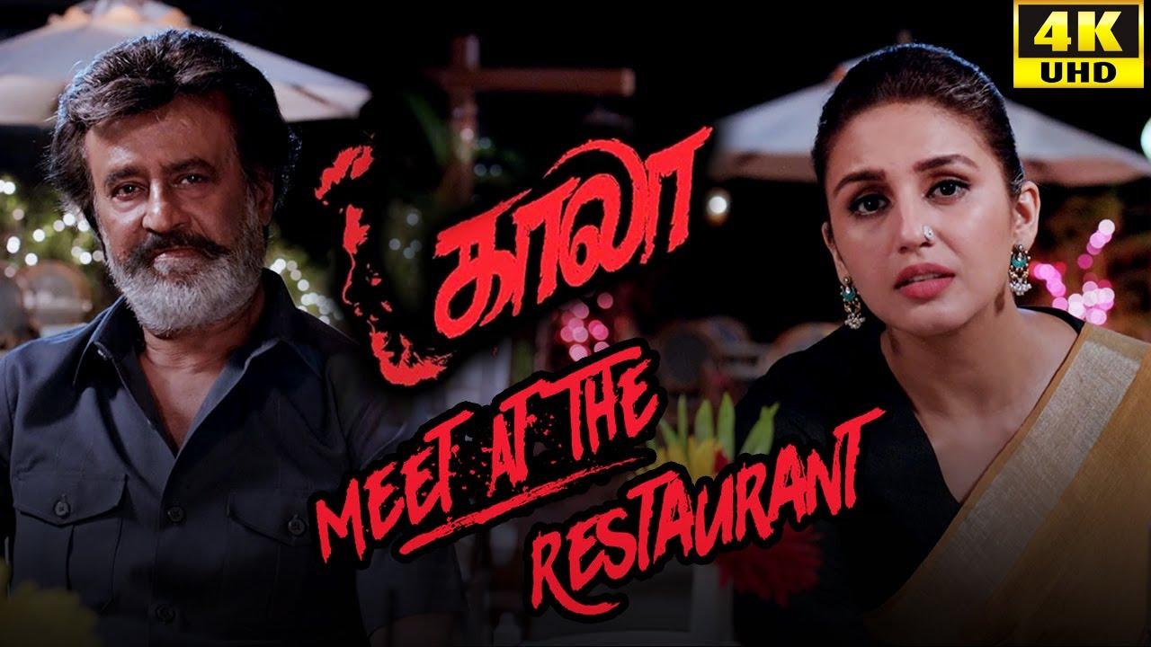 Download Kaala (Tamil) - Meet at the Restaurant   Rajinikanth   Nana Patekar   Huma Qureshi   4K [with Subs]