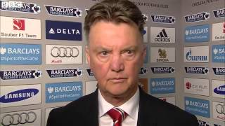 Pretty Embarressed Louis Van Gaal - Post Match Interview Chelsea 1-0 Man Utd EPL