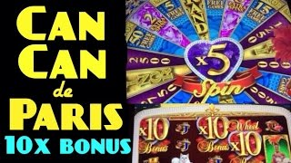 CAN CAN de PARIS slot machine Max bet 10x bonus symbols WIN!