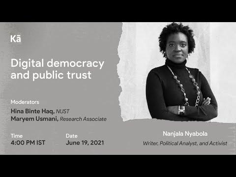 Digital democracy and public trust - Kenya's election tech experiement