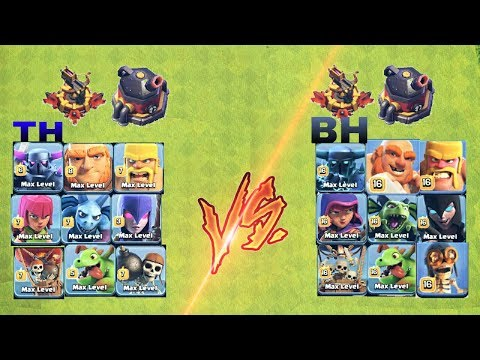 TH TROOPS VS BH TROOPS VS MAX LVL X-BOW VS MAX LVL ROASTER 😱😵IN COC||COC LOVERS😘||UNITY CLASH||
