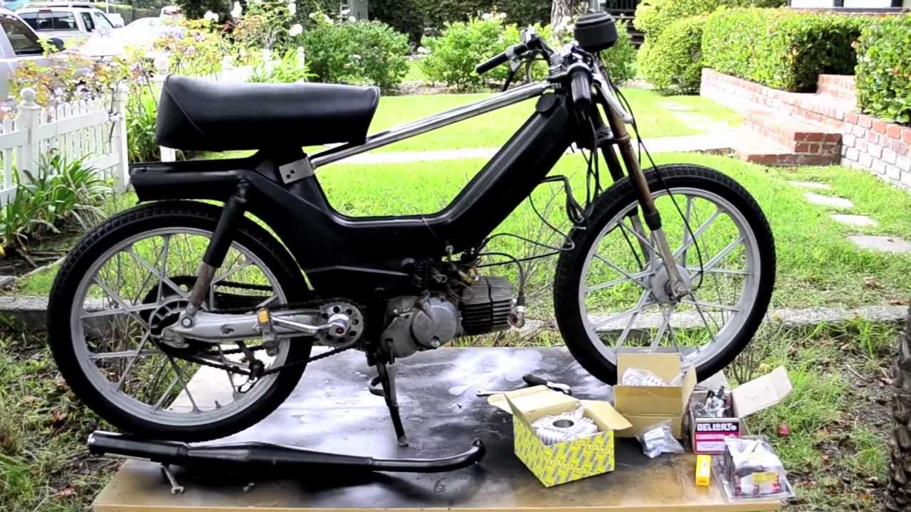 HOW TO: PUCH e50 Engine top end rebuild/ overbore 70cc kit  Maxi sport  project PT 3 *update*