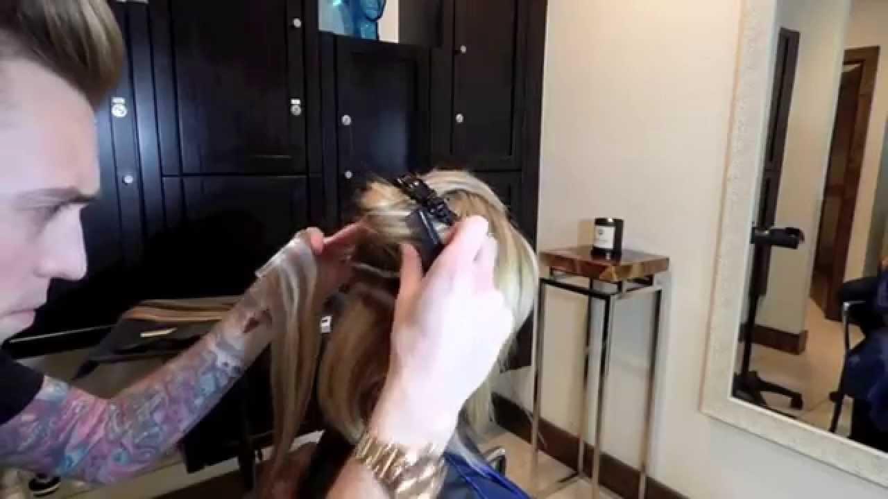 Hair Extensions Platinum Seamless Adhesive Bond Youtube