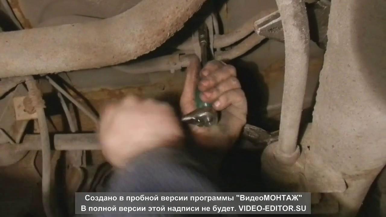 замена штатных трубок заднего отопителя на шланги
