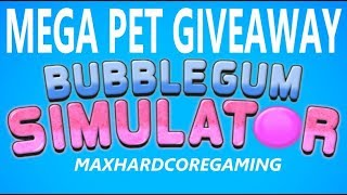 Roblox Bubble Gum Sim - 'MEGA PET GIVEAWAY' 7 Frost Winged Hydra Given Away