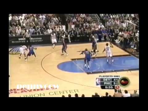 Allen Iverson Full Highlights vs. the Pistons - 2003 NBA Playoff Game 4