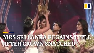 Sri Lankan beauty queen regains crown snatched over false divorce claims