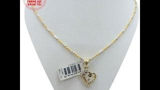 Bộ dây chuyền mặt dây nữ , Bộ mặt dây cho nữ, Bộ trang mặt dây chuyền đẹp, TSVN013652