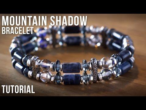 Mountain Shadow Double Strand Beaded Bracelet Idea - Jewelry Making Tutorial