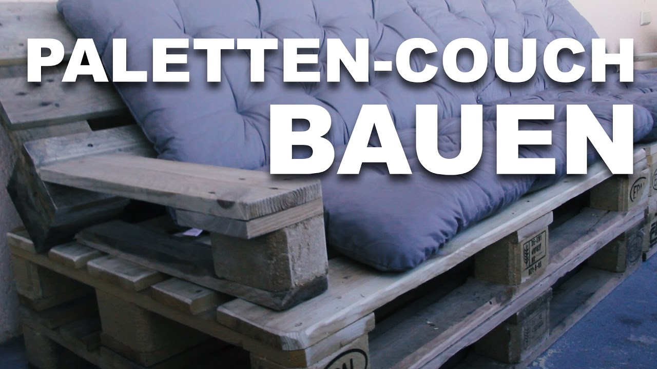 unsere eigene paletten couch youtube. Black Bedroom Furniture Sets. Home Design Ideas