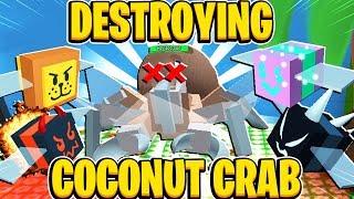 DESTROYING COCONUT CRAB In Roblox Bee Swarm Simulator