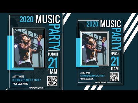 Music Poster Design | Music Flyer Design | Music Banner Design | Illustrator Tutorial thumbnail