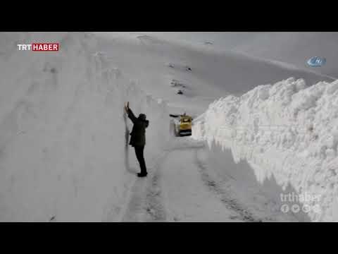 Ordu'nun Çarşamba Yaylasında kar yüksekliği 5 metreye ulaştı