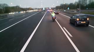 Coentunnel-VUmc met begeleiding van de politie