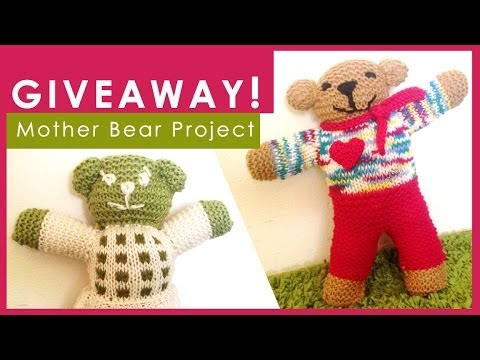 My Charity Knitting Idea Mother Bear Project Studio Knit Vlog 5
