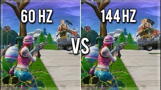 What it looks like to play in 144hz vs 60hz! (Fortnite)