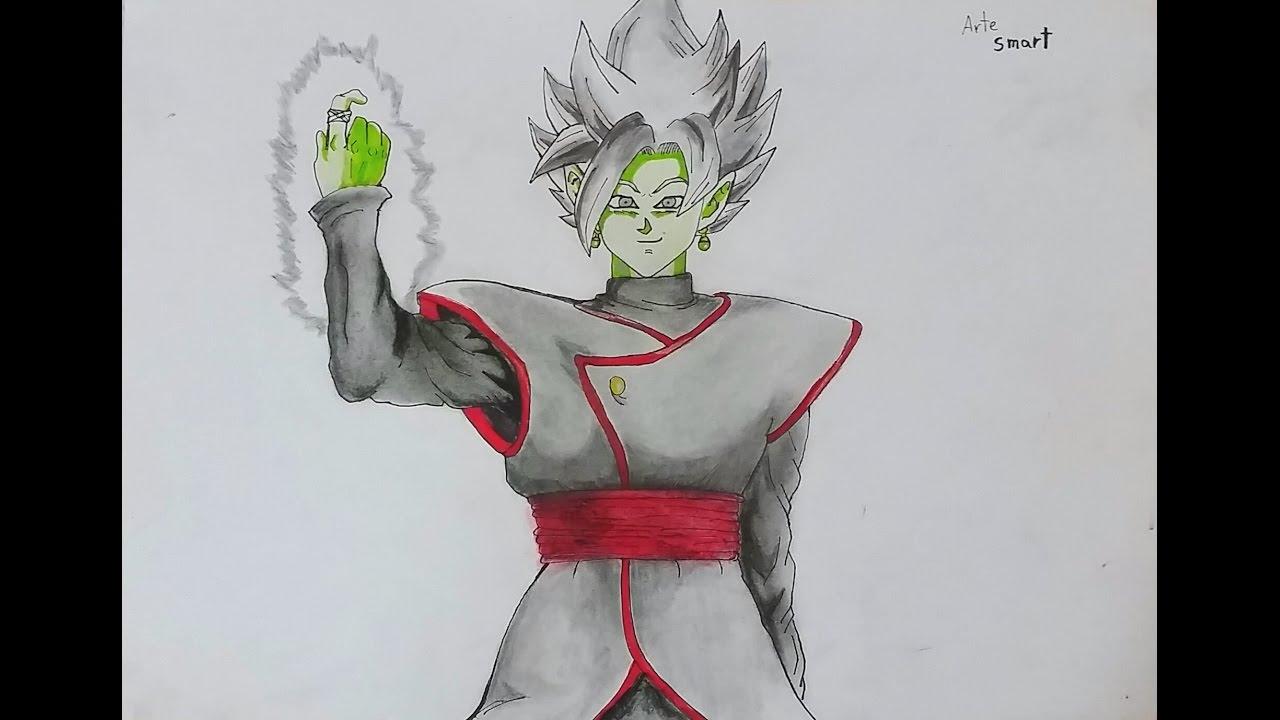 """Dibujando A """"Blamasu"""" Fusion De Black Y Zamasu"""