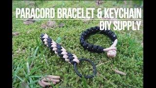 DIY Paracord bracelet and keychain
