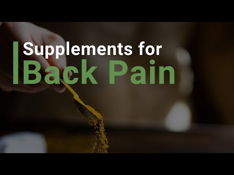 Supplements for Back Pain!