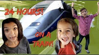 24 HOURS OVERNIGHT on a TRAIN! truth or dare