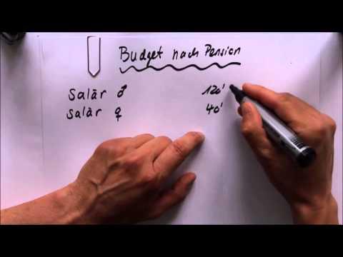 Budget für die Pensionierung erstellen