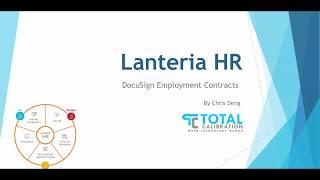 DocuSign integration with LanteriaHR