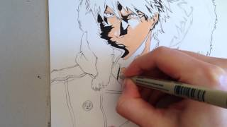 BLEACH - Copic Speed Drawing Ichigo Kurosaki