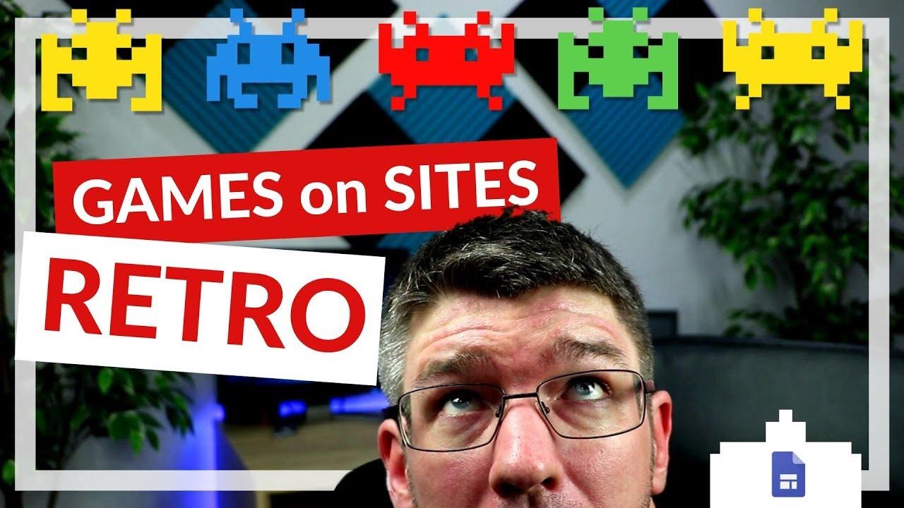 Retro Games on Your Google Sites