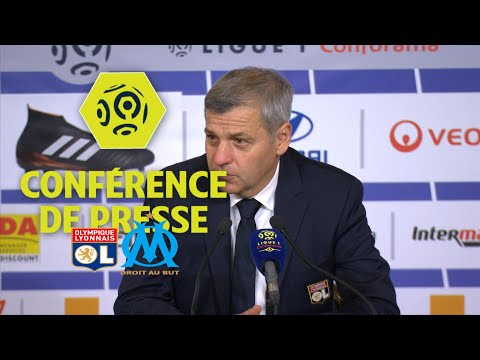 Conférence de presse Olympique Lyonnais - Olympique de Marseille (2-0) - 2017/18
