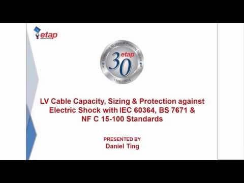 Low Voltage Cable Capacity, Sizing & Protection against Electric Shock