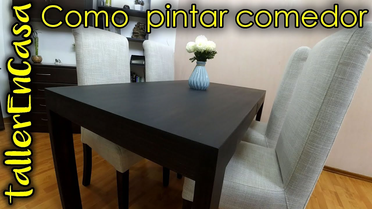 Como pintar mesa de madera en casa - YouTube