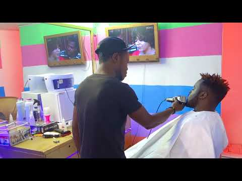 LOCKO at the Celebrities Barbershop in new town limbe