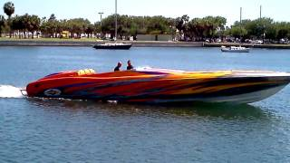 Nice cigarette boat!  What a sound.