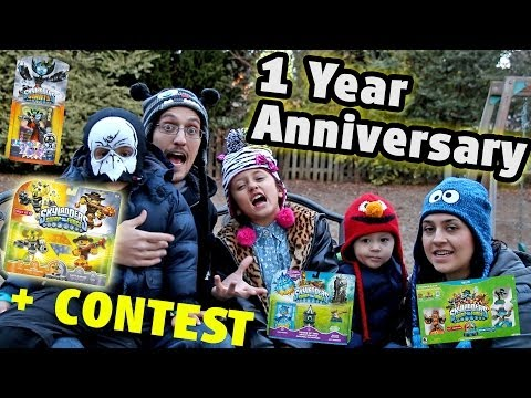 Skylander Boy & Girl 1 Year Youtube Anniversary: THANK YOU!  (4 Give Aways Contest)