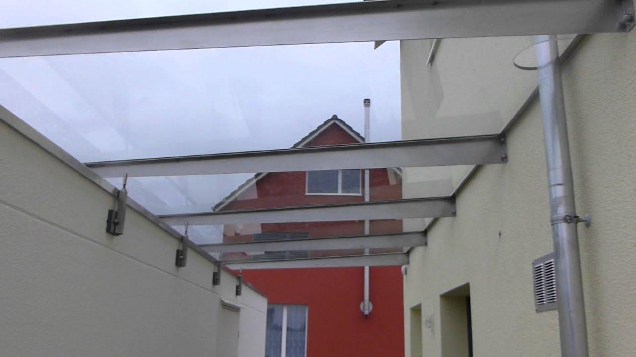 Ueberdachung mit vordach vom haus zur garage youtube for Haus mit garage
