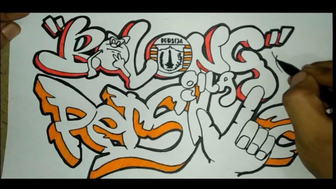 Membuat Graffiti Nama Bolong Gila Persija Youtube