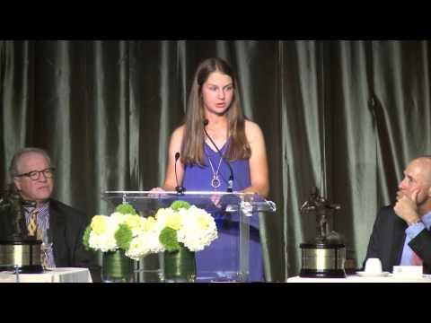 Jerry Cole Sportsmanship Award winner Emily Sumner speech