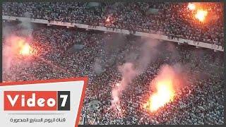 الشماريخ تشعل ستاد برج العرب وباسم يغير قميصه بعد هدف الزمالك الأول