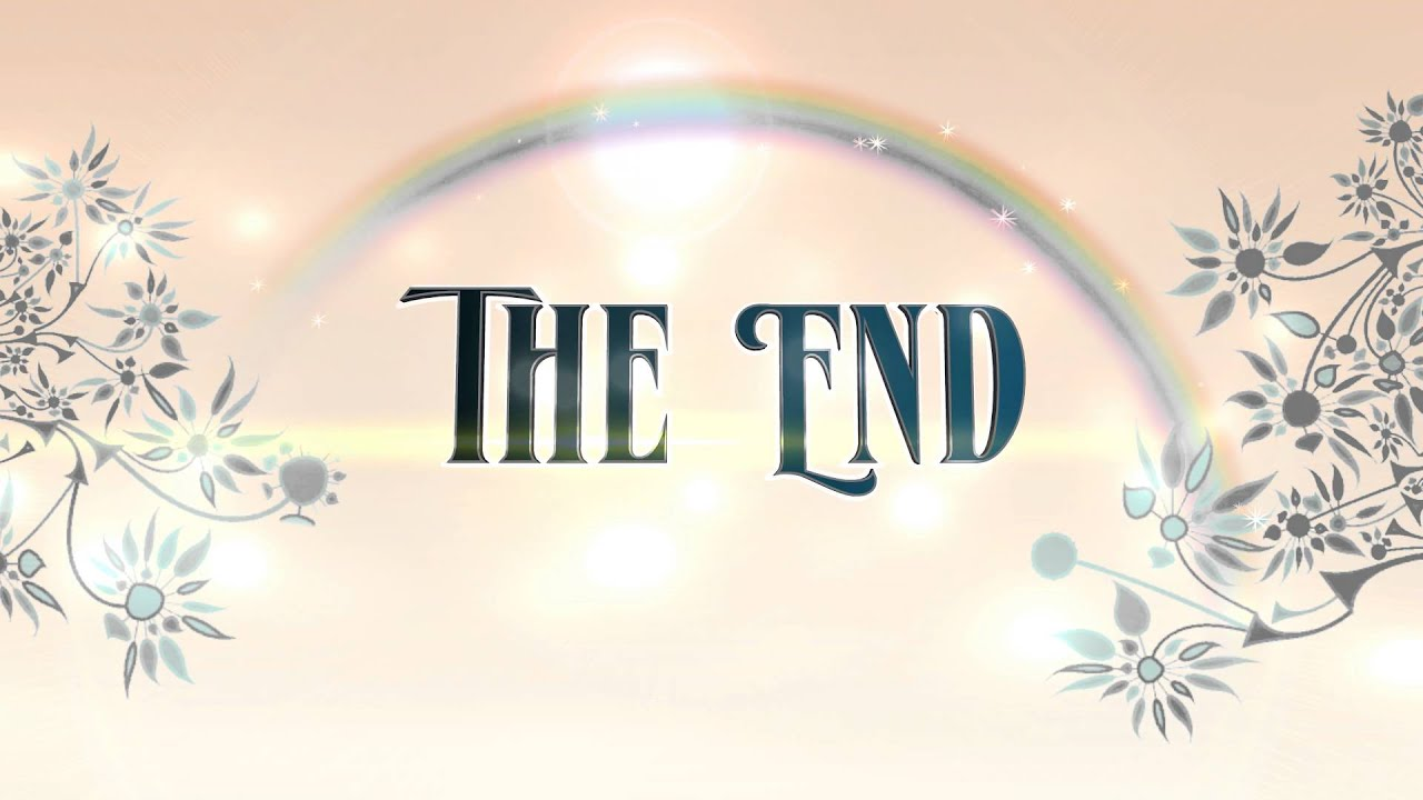 The End Animation Rainbow Floral - Royalty Free 4K Animation - AA VFX